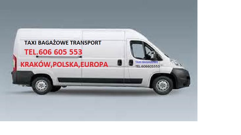 Taxi bagażowe Kraków Bagażówka Transport