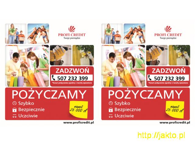oferta SZYBKIEJ POŻYCZKI do 25 000 zł