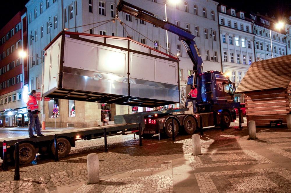 Transport kontenerów, niskopodwoziowy, specjalistyczny, hds