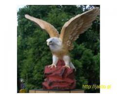 Rzeźby i figury ogrodowe - orzeł na skale , wielka betonowa rzeźba