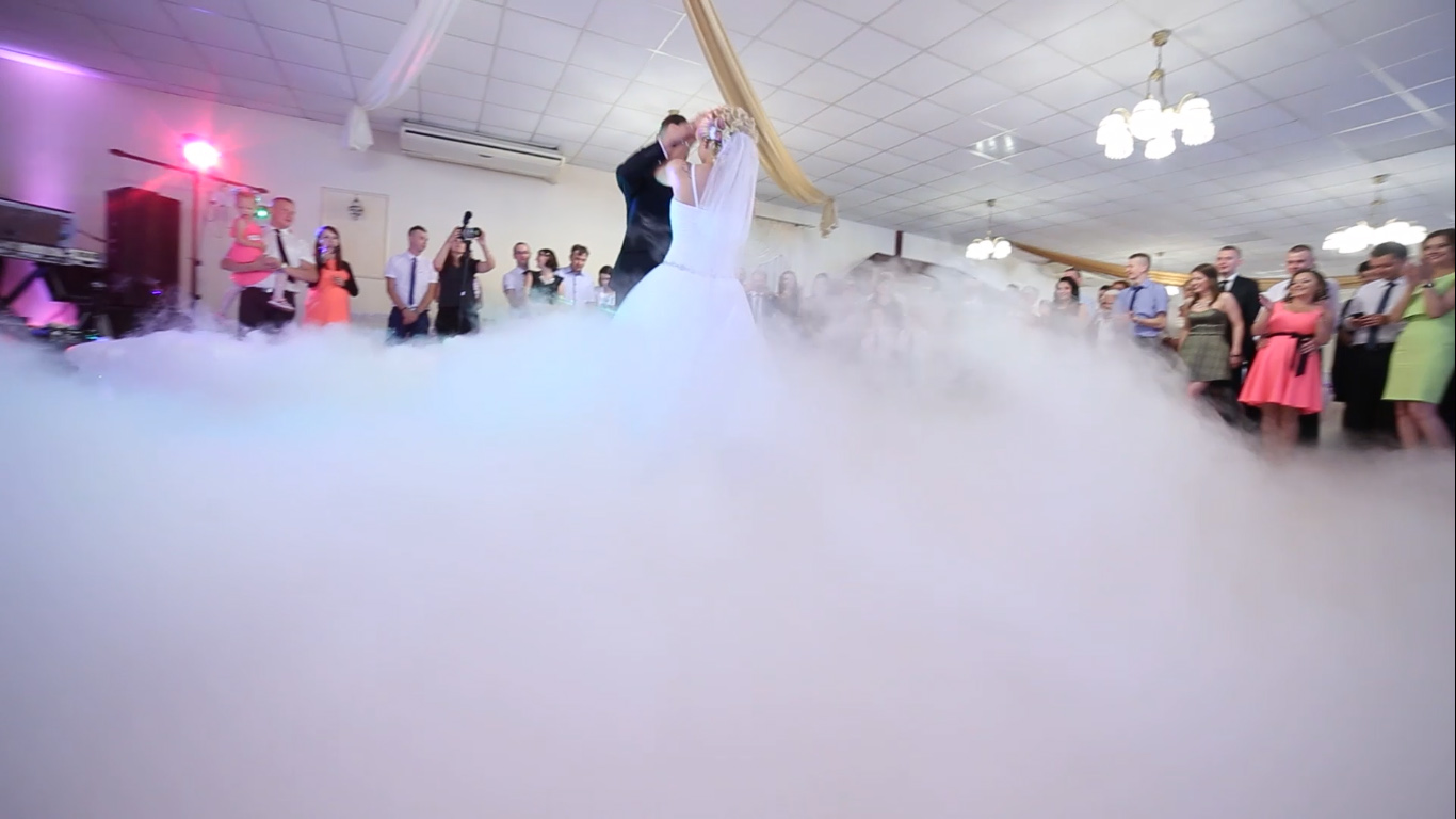 Oświetlenie Dekoracyjne Sali. Ciężki dym na Pierwszy Taniec  Kielce Świętokrzyskie
