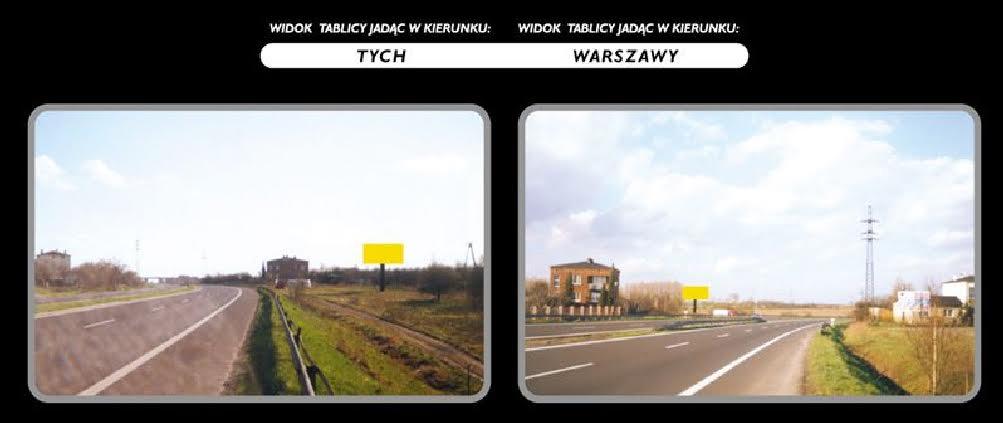 Wynajmę lub sprzedam Billboard Reklamowy na trasie Tychy – Warszawa wraz z działką!